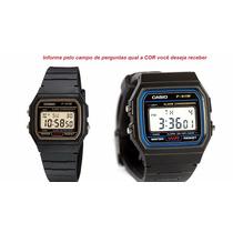 Relogio Casio F-91wg-9 Digital Unisex Vintage Retrô Alarm Wr