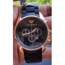 Relógio Emporio Armani Ar5890 Marrom Rose - Frete Grátis