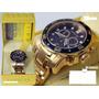 Invicta Scuba 0073 Swissblue Banhado Ouro18k Original Caixa