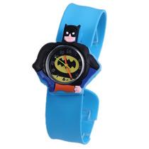Relógio Batman Infantil Criança Pulseira Bate Enrola 3d