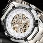 Lindo Relógio Automático Elegante De Luxo - Dispensa Bateria