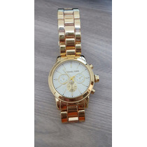 Lindos Relógios Feminino Versão Michael Kors Em Dourado
