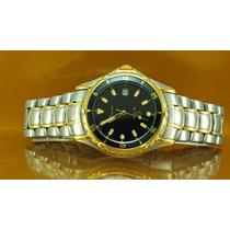 Relógio Bulova 98b95 Marine Star Com Dial Preto/ouro
