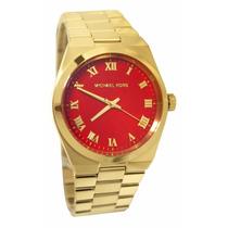 Relógio Michael Kors Mk5936 Vermelho Coral Lançamento Lindo