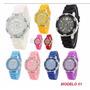 Relógio Quartz Pulseira Em Silicone P/ Revender Pct C/15 Und
