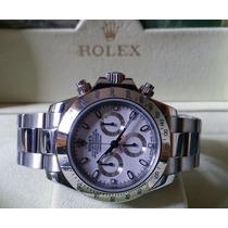 Relógio Eta Daytona Branco + Caixa, Manual, Garantia, Sedex
