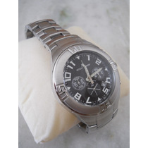 Relógio Jacques Lemans Crono 10atm Luxo Aço - Frete!!!