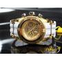 Invicta Bolt Feminino 16112 Original Pul Branca Ouro 18k