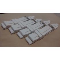 Pulseira P/ Relógios Em Borracha Silicone Branca 22mm E 24mm