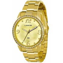 Relógio Lince Dourado Feminino (orient) Lrgj027l Prova Dágua