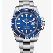 Relogio Submariner Azul Prata 12x Sem Juros + Garantia