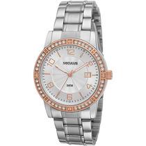 Relógio Séculus Feminino Social Analógico 28237lpspgs1 Prata