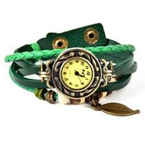 Relógio Pingente Feminino Vintage - Couro