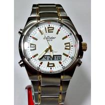 Relógio Condor Masculino Anadigi Kc18112b Frete Grátis --