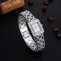 Relogios Feminino Quartzo Bracelete/pulseira Prata/prata
