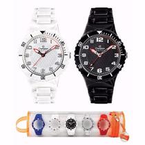 Relógio Champion Led Digital Troca 5 Pulseiras Escreve Nomes