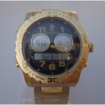 Relógio Masculino Dourado Luxo Atlantis A3228 Mod. Rip Curl