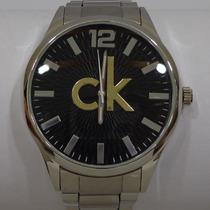 Relógio Masculino Luxo Ck Calvin Klein Aço Inox