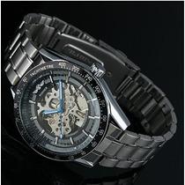 Relógio Masculino Totalmente Automático Pulseira De Metal