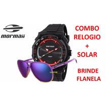 Kit Mormaii Relogio + Oculos De Sol Mo150c/51 + Flanela
