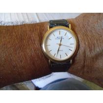 Bonito Relógio Clássico Cosmos , Pulseira De Couro , Quartz