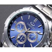 Relógio Luxo Masculino Resistente À Àgua Chenxi-frete Grátis