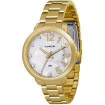 Relógio Dourado Feminino Lince Lrgk041l 1 Ano De Garantia