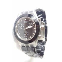 Relógio Swatch Masculino Preto Aço E Alumínio Frete Grátis