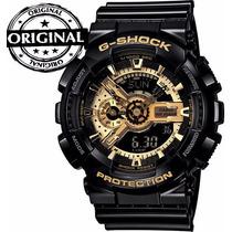 Relogio Masculino G Shock Ga110 Barato Original Pret Dourado