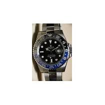 Relógio Gmt 2 Master Bezel Cerâmica Preto / Azul Automático