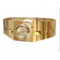 Relógio Feminino Dourado Lince Orient Original Lqg4043l
