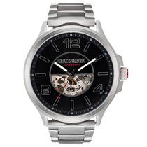 Relógio Masculino Quiksilver Beluka Automatic Silver Black
