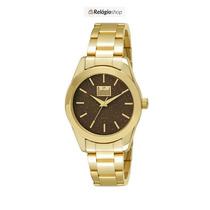 Relógio Dourado Feminino Dumont Du2035lmy/4a - Lançamento.