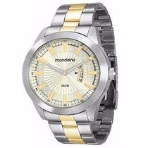 Relógio Mondaine Análogo Social Pulseira Aço 78547gpmvba2