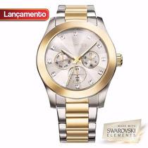 Relógio Technos Feminino Elegance Swarovski 6p29agh/4k