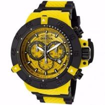 Relogio Invicta 0934 Preto Amarelo 12x Sem Juros