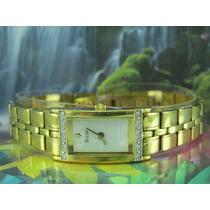 Relógio Bulova 98r75 Original Pulseira Dourada Com Swarovski