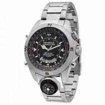 Relógio Masculino Technos T20566/1p Skydiver 15 Atm Aço