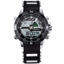 Relógios Homens Luxo Famosa Marca Logo Militar Lcd Luminoso