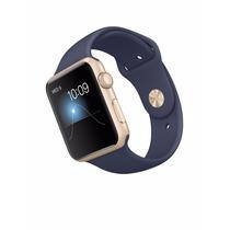 Apple Watch 42m Novo Dourado E Pulseira Azul Meia Noite Orig