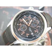 O R I E N T Relógio Orient Cronógrafo Aço E Plaque Ouro Rose