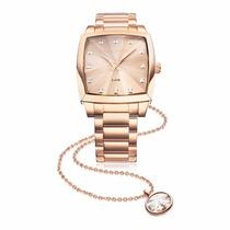 Kit Relógio Technos 2036llx/4t Elegance Crystal Swarovski