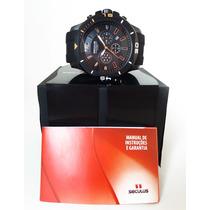 Relógio Seculus Esportivo Caixa Grande Novo Pronta Entrega