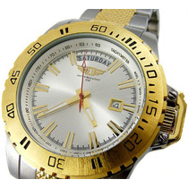 Invicta Ouro Gold Two Tone Day/date Tachymeter