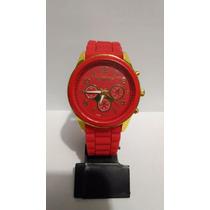 Lindo Relógio Feminino Michael Kors - Vermelho E Dourado