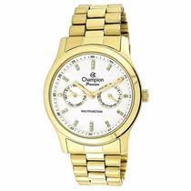 Relógio Champion Feminino Passion Dourada Ch38360h Original