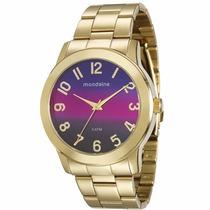 Relógio Mondaine Feminino Dourado Degrade Lindo