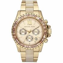 Relógio Michael Kors Mk5874 Everest Dourado Madreperola C Cx