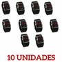 10 Unid Relógio Led Design Esportivo Produto De Qualidade