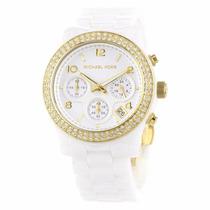 Relógio Michael Kors Mk5237 Branco Cerâmica Frete Gratis